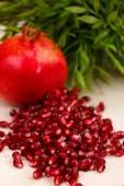 Heap of grenadine seeds — Stock Photo