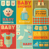 Baby Shower Posters — Vector de stock