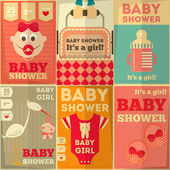Baby Shower Posters — Stock vektor