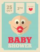 Baby Shower Poster — Vector de stock