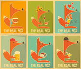 Fox Posters — Stock vektor