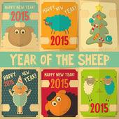 Tarjetas de año nuevo — Vector de stock