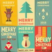 Christmas Posters Set — Stockvektor