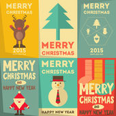 Christmas Posters Set — Stock Vector