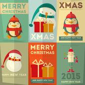 メリー クリスマスのグリーティング カード — ストックベクタ