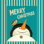 Merry Christmas Greeting Card  — Vector de stock