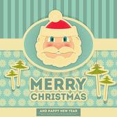 Merry Christmas Greeting Card  — Stock Vector