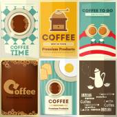 Coffee Posters Set — Vector de stock