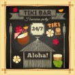 Tiki Bar Hawaii Chalkboard — Stock Vector #66219713