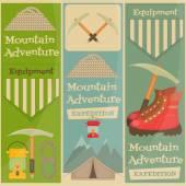 Mountain climbing — Stock Vector