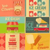 Ice Cream Posters — Stock Vector