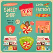 Sweet Shop — Stock Vector