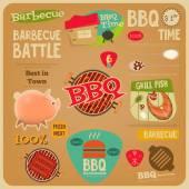BBQ card — Stock Vector