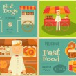 Fast Food Mini Posters — Stock Vector #77318836