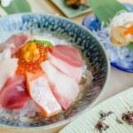 Sashimi set of fresh fish and seafood — Stock Photo #57106023
