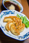 Traditional Japanese gyoza, Fried dumpling  — Stock Photo