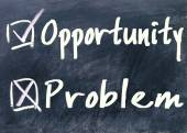 Opportunity or problem choice  — Stock Photo