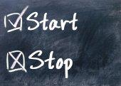 Start or stop determine  — Stock Photo