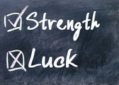 Strength or luck determine — Stock Photo