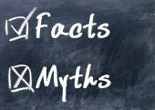 Facts or myths determine — Stock Photo