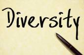 Diversity word write on paper — Stock Photo