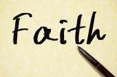 Faith word write on paper — Stock Photo