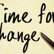 Time for change text write on paper — Stock Photo #64957099