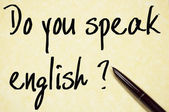 Do you speak english text write on paper  — Stock Photo