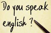 Do you speak english text write on paper  — Stockfoto