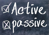 Active or passive choice — Stock Photo