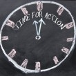 Time for action clock sign  — Stock Photo #64976679