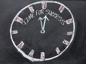 Time for success clock sign — Stock Photo