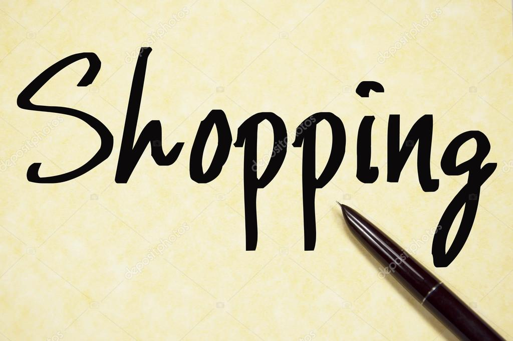 Shopping word write on paper — Stock Photo © flytosky11 #64972447