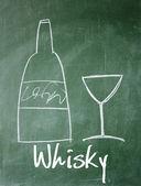 Whisky sign on blackboard — Stock Photo