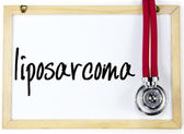 Liposarcoma word write on blackboard — Stock Photo