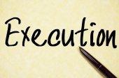 Execution word write on paper — Stock Photo