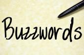 Buzzwords word write on paper — Stock Photo