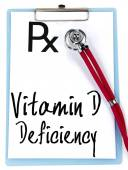 Vitamin d deficiency text write on prescription — Stock Photo