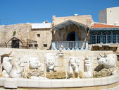 Jaffa Fountain with sculptures of zodiac signs 2011 — Stock Photo