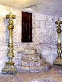 Jerusalem Holy Sepulcher ancient stage 2012 — Stock Photo