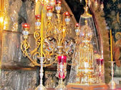 Jeruzalém hrobu výzdoba oltáře 2012 — Stock fotografie