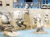 Jaffa the Fountain with sculptures of zodiac signs 2012 — Zdjęcie stockowe