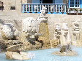Jaffa the Fountain with sculptures of zodiac signs 2012 — Stock Photo
