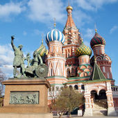 Moscow monument and Cathedral of Saint Basil the Blessed 2011 — Foto Stock