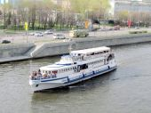 Moscow the Water-bus 2011 — Stock Photo