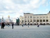 Moscow tourists on Red Square 2011 — Stock Photo