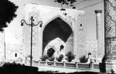 Samarkand Registan Ulugh Beg Madrasah 1959 — Stock Photo