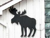 St Jacobs Village black moose 2013  — Stock Photo