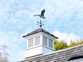 St Jacobs Village duck weather vane on roof 2013 — Stock Photo