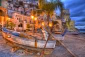 Cetara fishing village amalfi coast  sunrise — Stock Photo